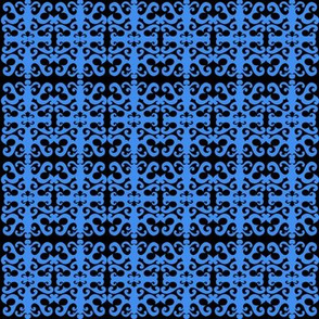 SCK Blue Damask pattern