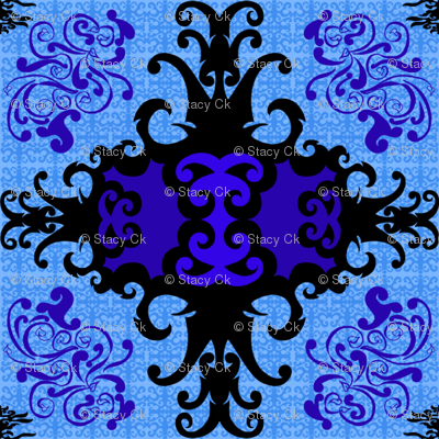 SCK Damask blue night