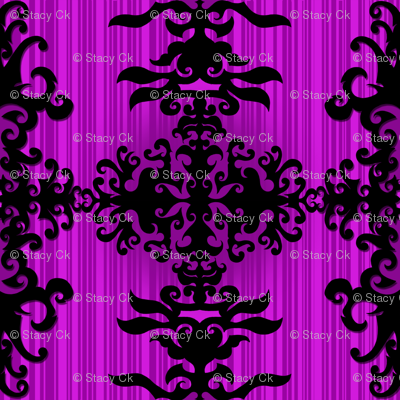 SCK Damask purple night
