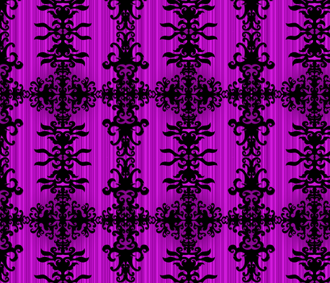 SCK Damask purple night fabric by stacyck on Spoonflower - custom fabric