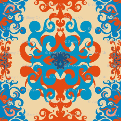 SCK Damask - Tuscany colors