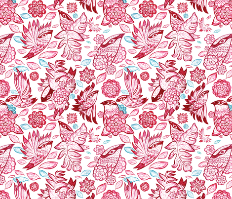 Windy Birds fabric by chad_grohman on Spoonflower - custom fabric