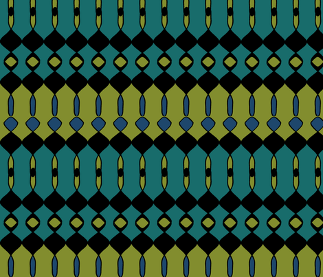 Busy Summer Blue fabric by sbd on Spoonflower - custom fabric