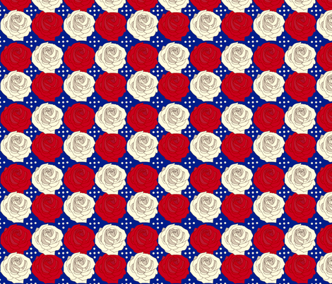 Patriotic_Rose fabric by cksstudio80 on Spoonflower - custom fabric