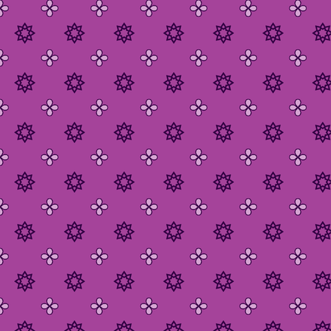 Starry Petals - Amethyst fabric by inscribed_here on Spoonflower - custom fabric