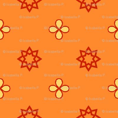 Starry Petals - Polly Orange