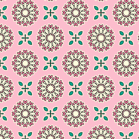 Full Bloom - Fairy-Floss Pink fabric by inscribed_here on Spoonflower - custom fabric