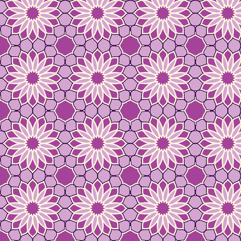 Rock Daisies - Amethyst © 2010 fabric by inscribed_here on Spoonflower - custom fabric