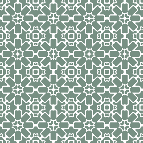 Aquamarine Berry Star fabric by kristopherk on Spoonflower - custom fabric