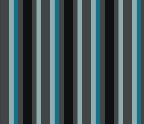 Blue Black Stripe fabric by sbd on Spoonflower - custom fabric
