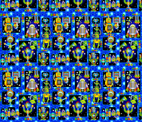robot_2 fabric by caddenz on Spoonflower - custom fabric