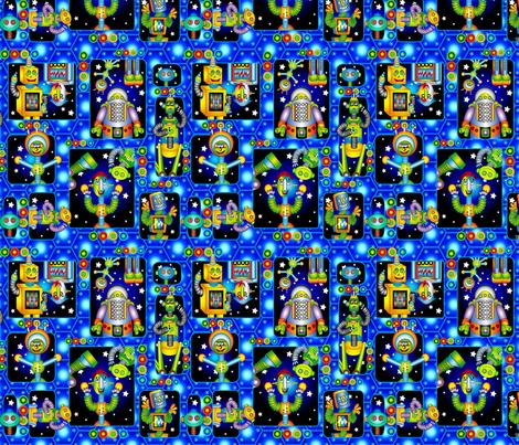 robot_2 fabric by caddenz on Spoonflower - custom fabric
