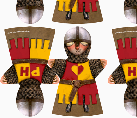 Puppet Heap Knight fabric by puppetheap on Spoonflower - custom fabric