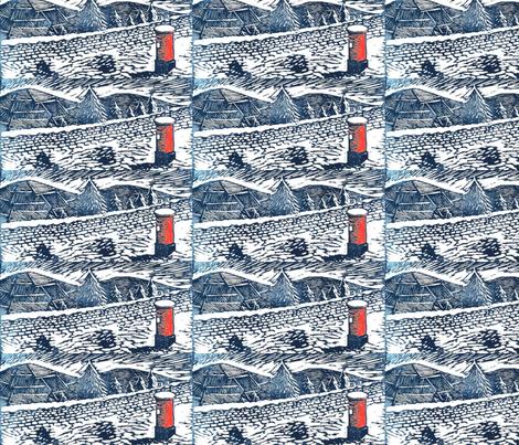 xmas_postbox fabric by wiz on Spoonflower - custom fabric