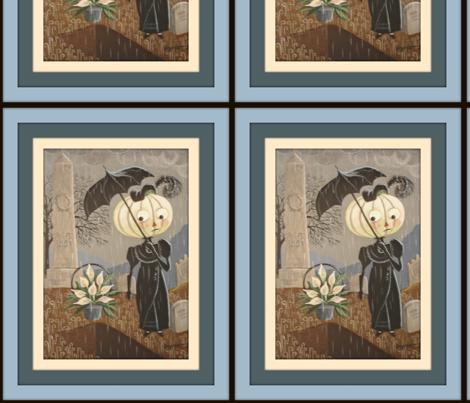 Rainy Cemetery fabric by disgusted_cats on Spoonflower - custom fabric