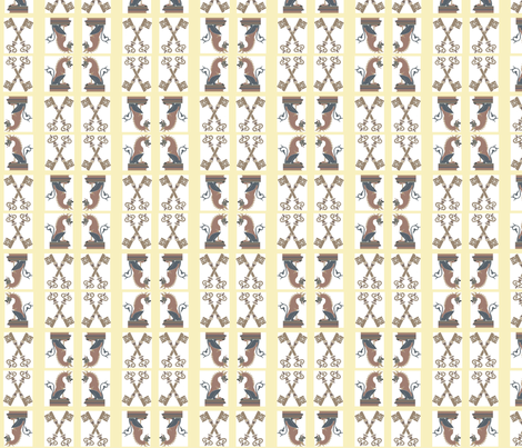 Chess Key fabric by charlotterose25 on Spoonflower - custom fabric
