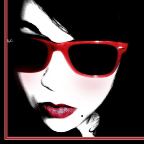 "SARAH RED SCARF 36"""