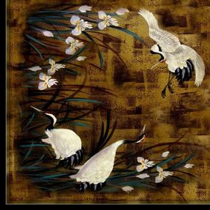 """Orchids, Cranes 36"""""""