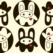 Bunny Squee Fabric - Dot