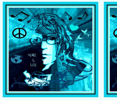 "JOHN - 18"" PEACE & LOVE fabric by paragonstudios on Spoonflower - custom fabric"