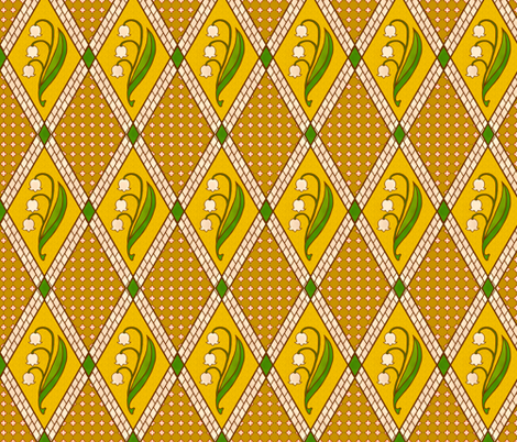 Medieval Muguet fabric by siya on Spoonflower - custom fabric