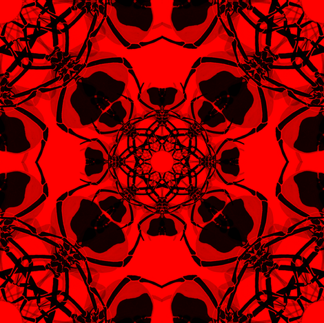 Fractal Red Spider fabric by artbybaha on Spoonflower - custom fabric