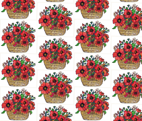 PoppyBasket fabric by snazzyfrogs on Spoonflower - custom fabric