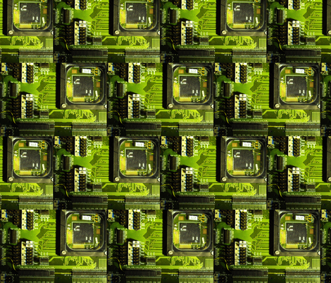 Circuit Board fabric by twoboos on Spoonflower - custom fabric