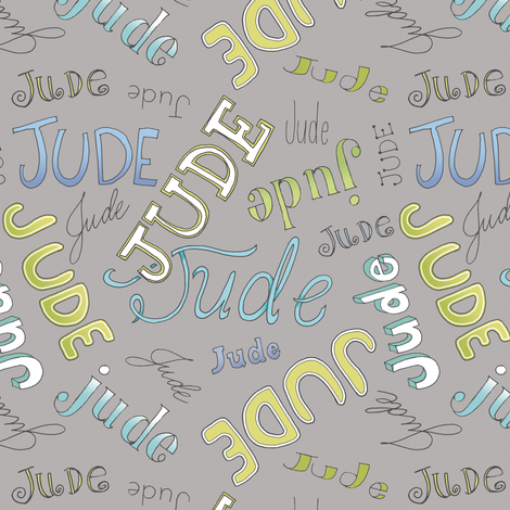 JUDE - gray fabric by pattysloniger on Spoonflower - custom fabric
