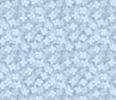Hydrangeas fabric by siya on Spoonflower - custom fabric