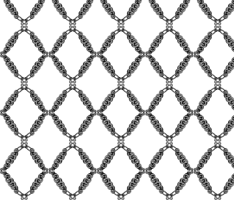 silver chain fabric by saltlabs on Spoonflower - custom fabric