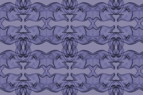 Purple Elephants fabric by artbybaha on Spoonflower - custom fabric