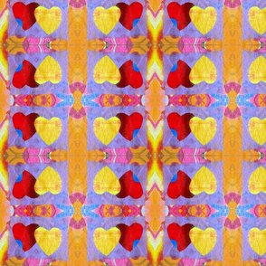 Two Hearts Together Rad Plaid