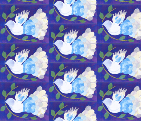 Peace Dove half drop fabric by jan4insight on Spoonflower - custom fabric