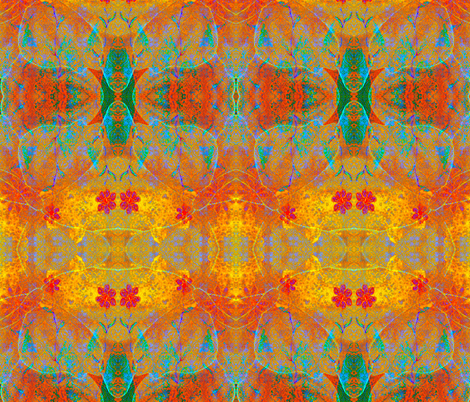 Magical Carpet 2 aztec rad plaid fabric by jan4insight on Spoonflower - custom fabric