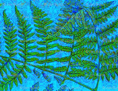 Blue Fern Fractal