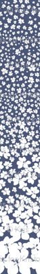 Magnolia Little Gem - China Blue - 3 Yard Panel