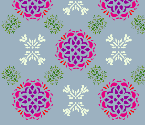 srednjivek fabric by p_kok on Spoonflower - custom fabric
