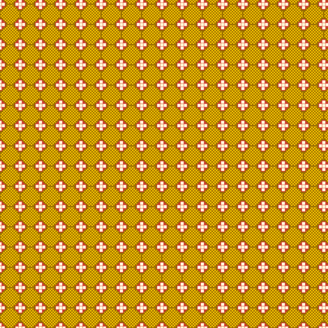 Crosses and Nets - Yellow fabric by siya on Spoonflower - custom fabric