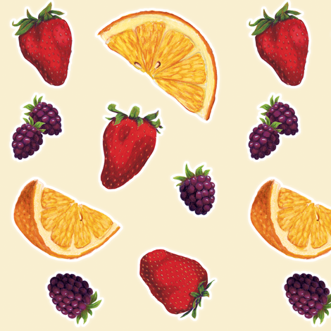 Summer Fruit fabric by pattysloniger on Spoonflower - custom fabric