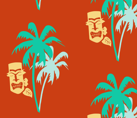 C'mon Tiki Paradise fabric by dreamycatz on Spoonflower - custom fabric