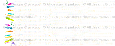 Rainbow Pastel - Feather Border 'n' Dots  -  © PinkSodaPop 4ComputerHeaven.com