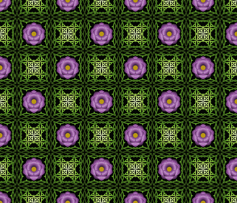 Purple Rose fabric by shala on Spoonflower - custom fabric