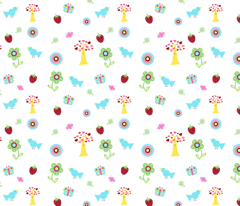 Fruity Forest fabric by mayabella on Spoonflower - custom fabric