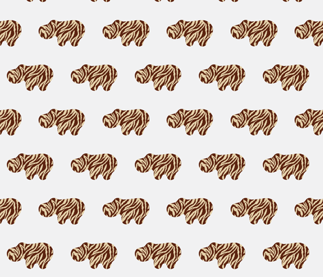 Animal Print Hippo fabric by dorolimited on Spoonflower - custom fabric