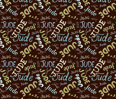Jude - Chocolate fabric by pattysloniger on Spoonflower - custom fabric