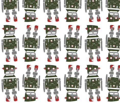Retro Bot fabric by peteandizzysmom on Spoonflower - custom fabric