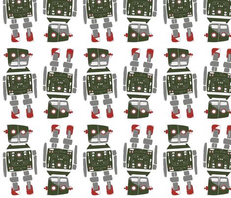 Retro Bot fabric by peteandizzysmom on Spoonflower - custom fabric