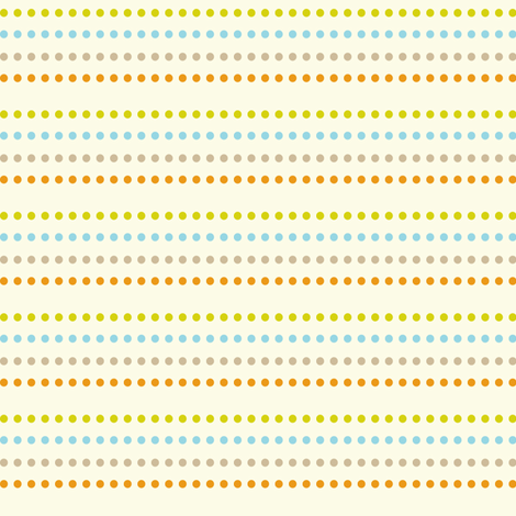 Dippy Dot Cream fabric by heatherdutton on Spoonflower - custom fabric