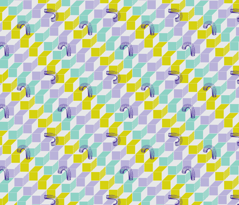 Slinky - violet - small repeat fabric by annosch on Spoonflower - custom fabric